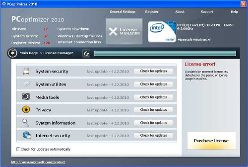 pc optimizer 2010
